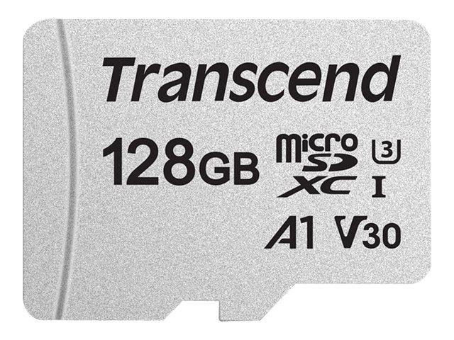 Transcend 300S - Flash-Speicherkarte - 128 GB - A1 / Video Class V30 / UHS-I U3 - microSDXC