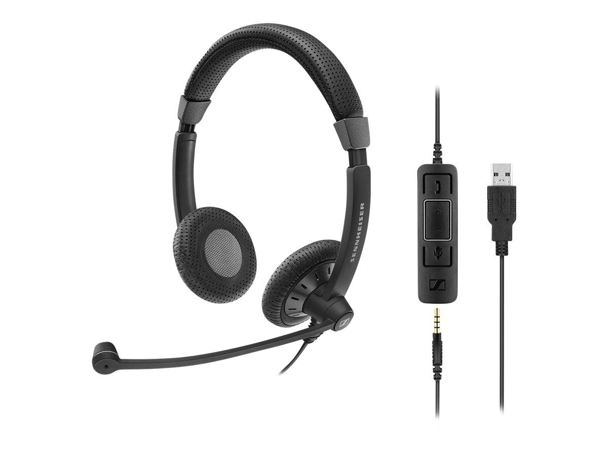 Sennheiser SC 75 USB MS - Culture Plus Mobile - Headset - On-Ear - kabelgebunden - Schwarz