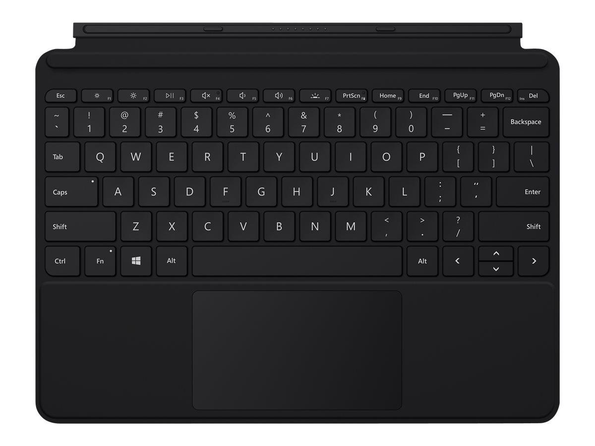 Microsoft Surface Go Type Cover - Tastatur - mit Trackpad, Beschleunigungsmesser - hinterleuchtet - Deutsch - Schwarz
