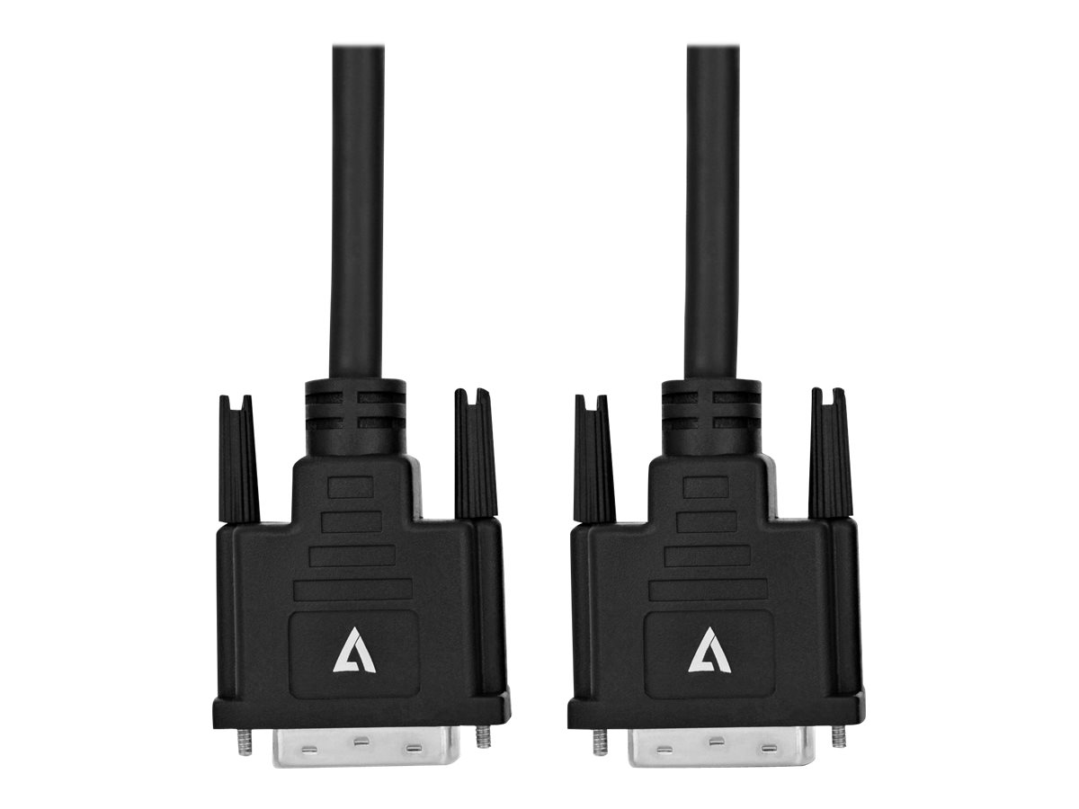 V7 - DVI-Kabel - Dual Link - DVI-D (M) bis DVI-D (M) - 5 m - Schwarz