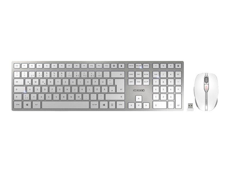 CHERRY DW 9100 SLIM - Tastatur-und-Maus-Set - kabellos - 2.4 GHz, Bluetooth 4.2 - QWERTZ - Deutsch
