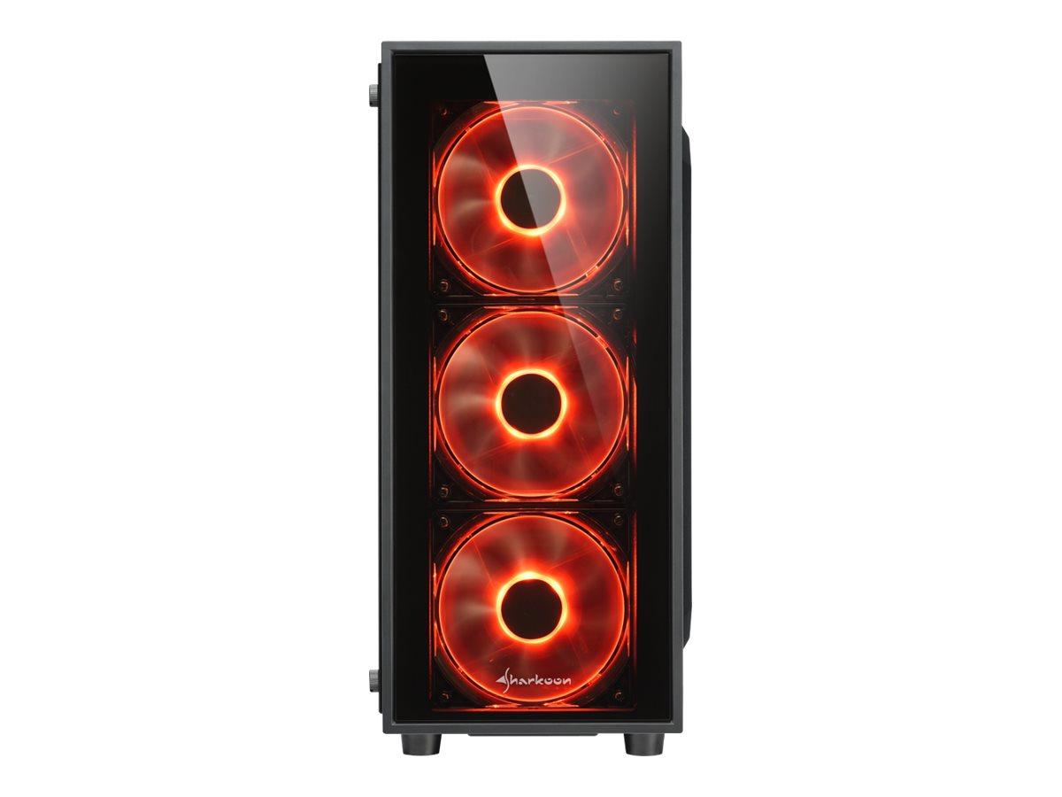 Sharkoon TG4 - Tower - ATX - ohne Netzteil - Schwarz - USB/Audio