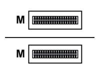 HPE Aruba - 40GBase-AOC Direktanschlusskabel - QSFP+ (M) bis QSFP+ (M) - 7 m - Glasfaser - für P/N: JL628A, JL628AR, JL629A, JL6