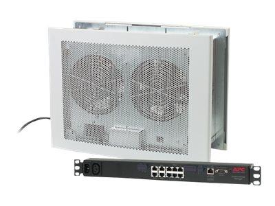 APC Room Air Distribution Wiring Closet Ventilation Unit with Environmental Management - Belüftungseinheit - geeignet für Wandmo