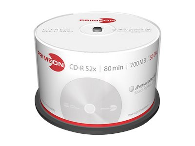 Primeon silver-protect-disc - 50 x CD-R - 700 MB (80 Min) 52x - Spindel