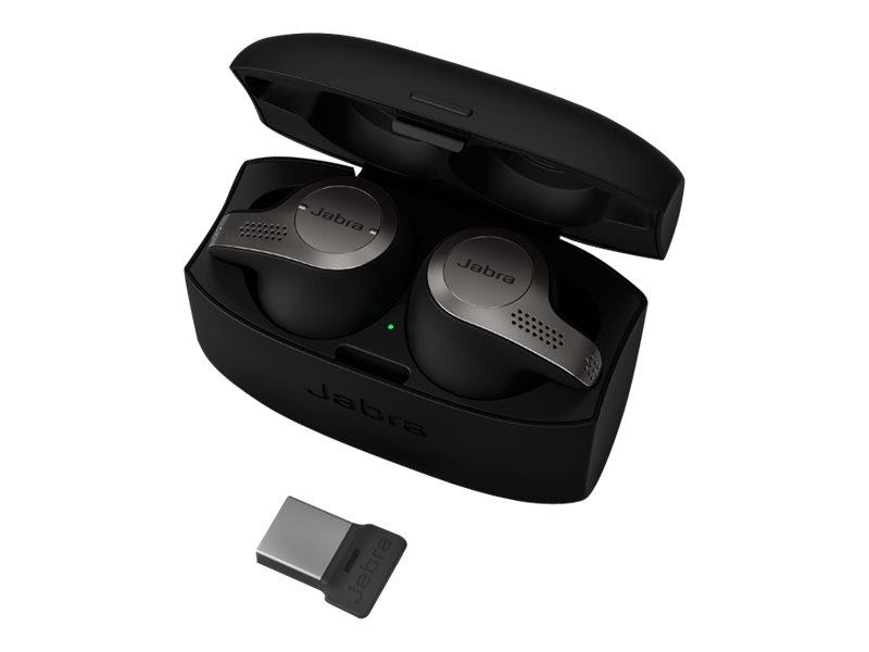 Jabra Evolve 65t MS - True Wireless-Kopfhörer mit Mikrofon - im Ohr - Bluetooth - Titanium Black