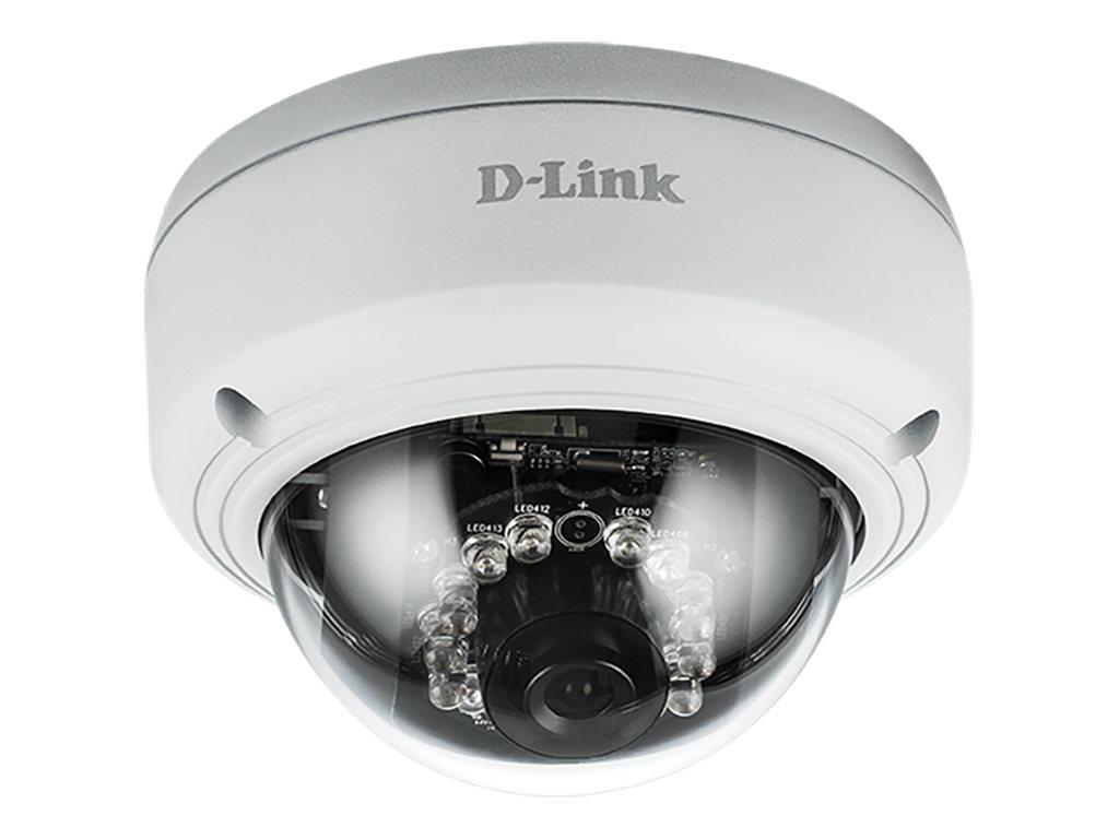 D-Link Vigilance DCS-4603 Full HD PoE Dome Camera - Netzwerk-Überwachungskamera - schwenken / neigen - Farbe (Tag&Nacht) - 3 MP