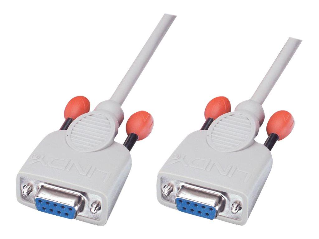 Lindy - Nullmodemkabel - DB-9 (W) bis DB-9 (W) - 2 m - geformt