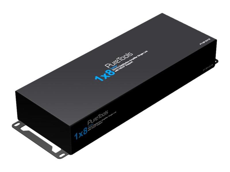 PureLink PureTools PT-SP-DV18 - Video-Verteiler - 8 x DVI - Desktop