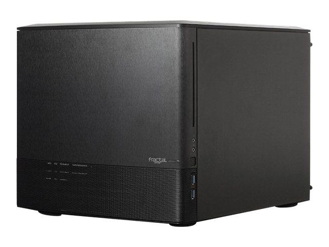 Fractal Design Node 804 - Desktop - Mikro-ATX - ohne Netzteil - Gebürstetes Aluminium / Schwarz - USB/Audio