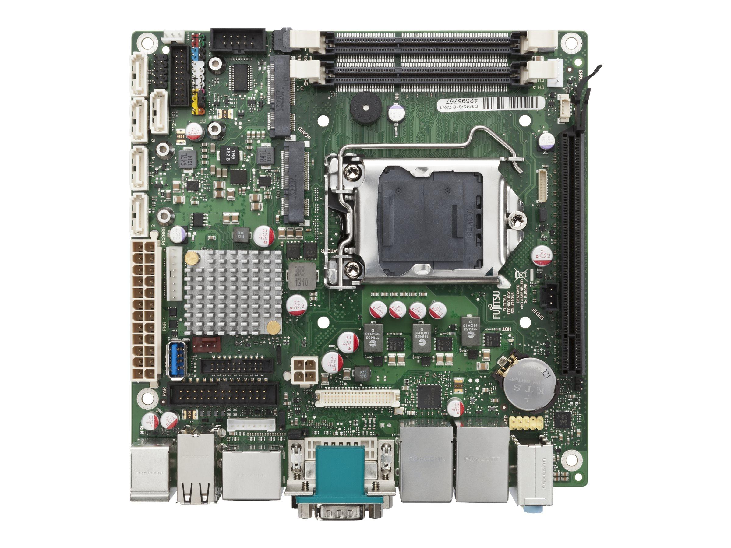 Fujitsu D3243-S - Motherboard - Mini-ITX - LGA1150-Sockel - Q87 - USB 3.0