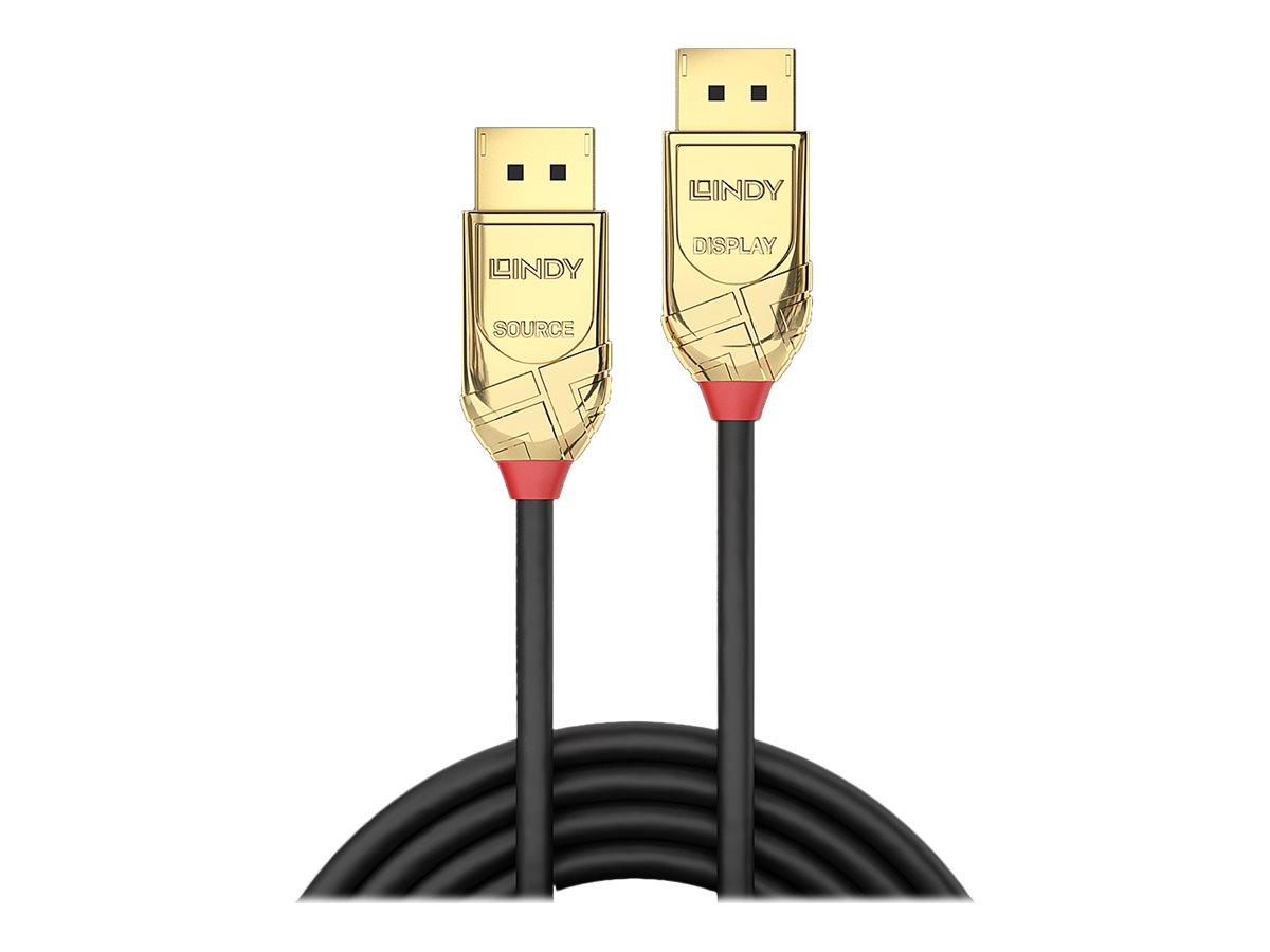 Lindy - DisplayPort-Kabel - DisplayPort (M) bis DisplayPort (M) - DisplayPort 1.2 - 10 m - rund, 4K Unterstützung, aktiv
