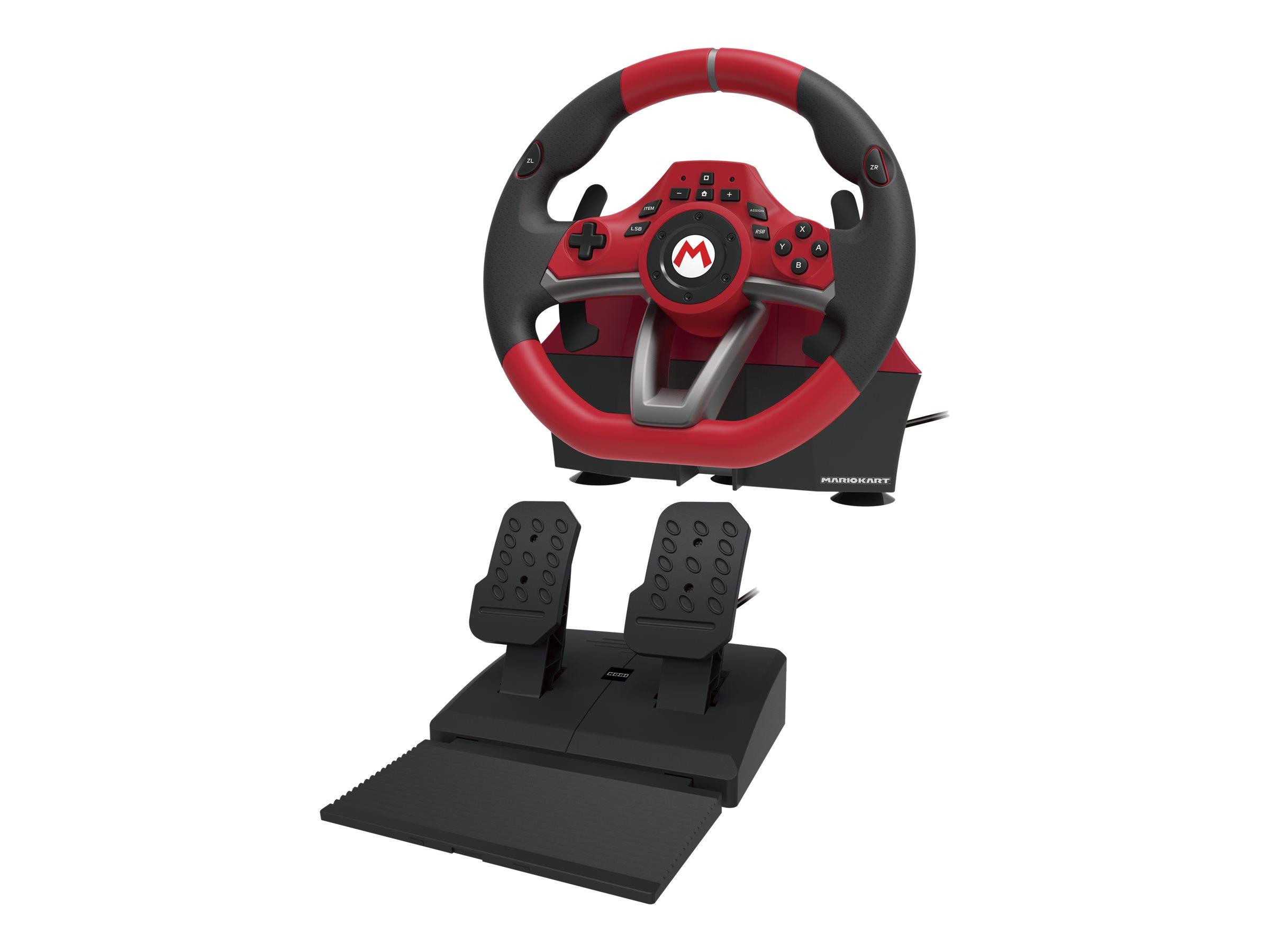 HORI Mario Kart Racing Wheel Pro Deluxe - Lenkrad- und Pedale-Set - kabelgebunden - für Nintendo Switch