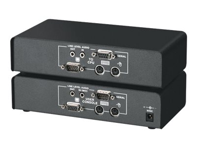 Black Box ServSwitch Brand CAT5 KVM Extender with Serial Extension and Stereo Audio Support Single-Access Kit - KVM-/Audio-/seri