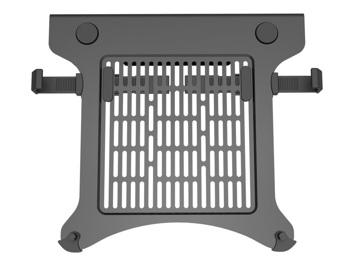 Vision VFM-DA3SHELFB - Montagekomponente (Regal) für Notebook / Tablet - Flugzeugaluminium - mattschwarz - Montageschnittstelle: