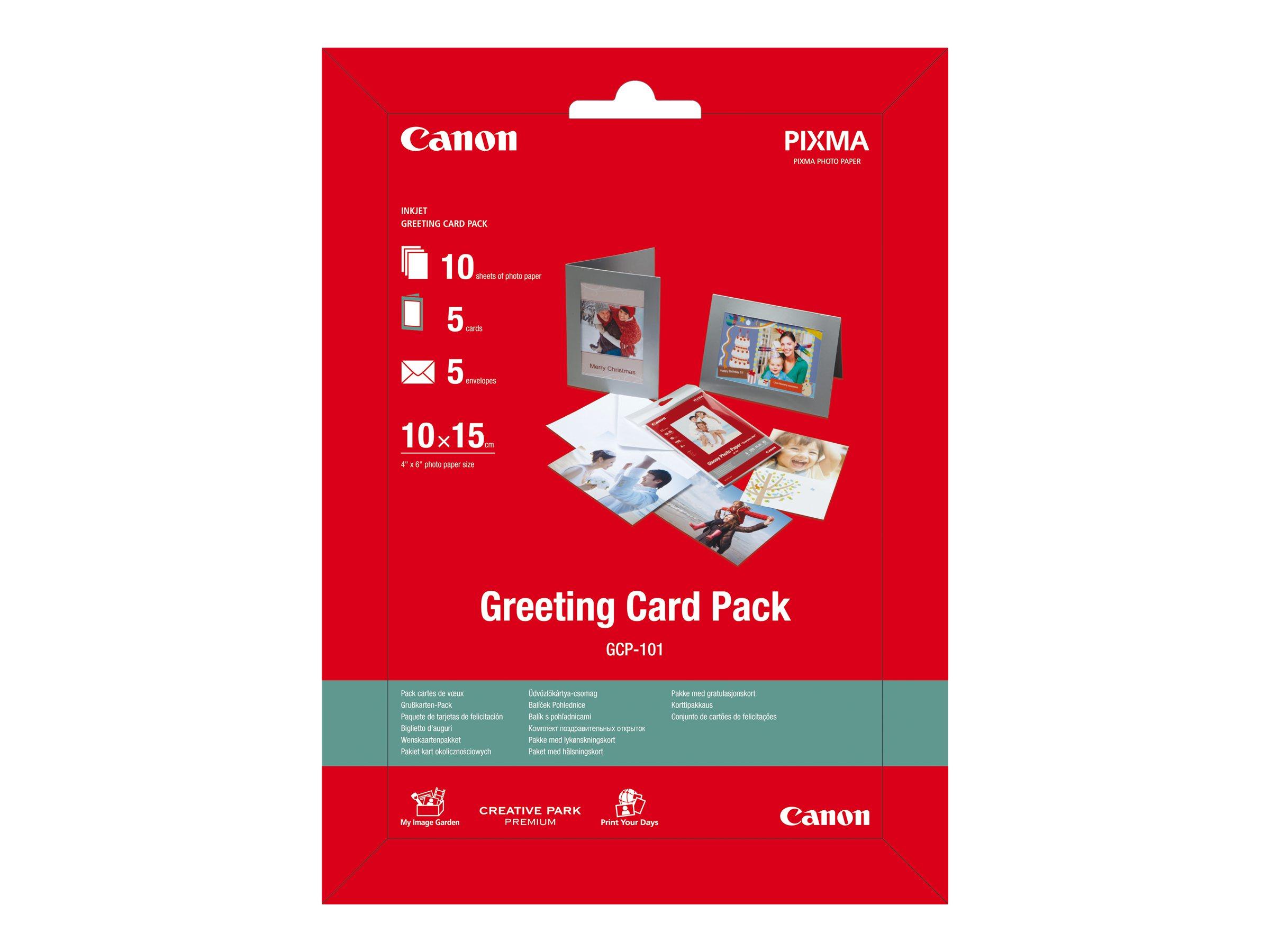 Canon Greeting Card Pack GCP-101 - 100 x 150 mm - 170 g/m² - 10 Blatt Fotopapier-Kit