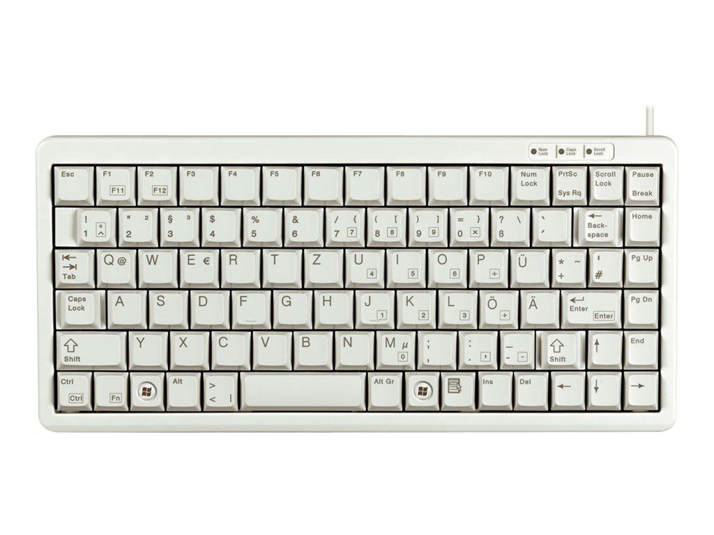 CHERRY Compact-Keyboard G84-4100 - Tastatur - USB - Deutsch - Hellgrau