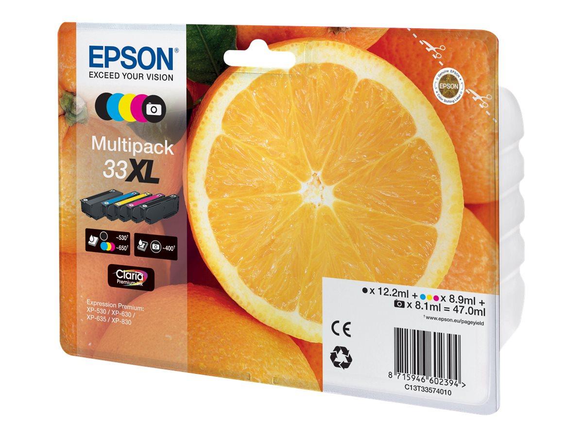 Epson 33XL Multipack - 5er-Pack - XL - Schwarz, Gelb, Cyan, Magenta, Photo schwarz - Original - Blisterverpackung