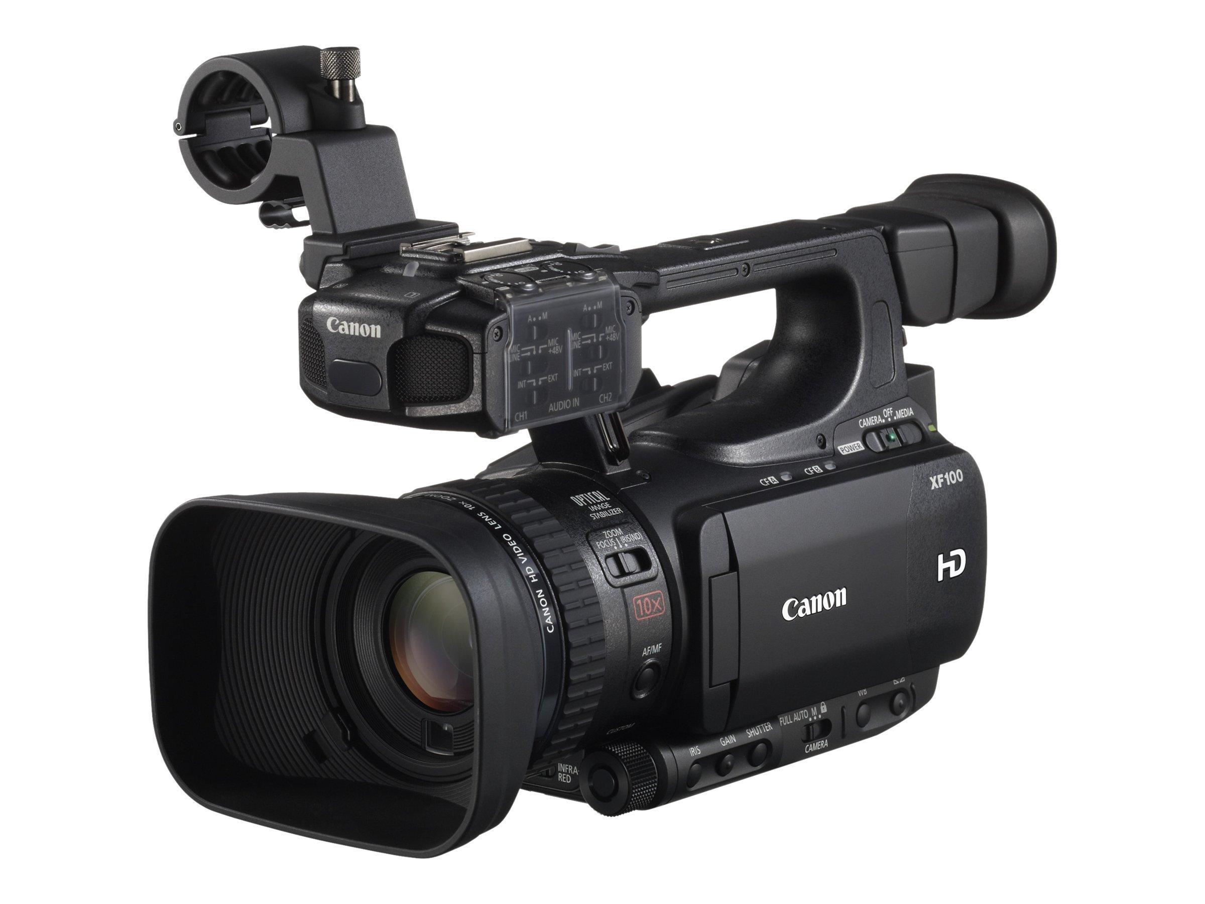 Canon XF100 - Camcorder - 1080p - 2.37 MPix - 10x optischer Zoom - Flash-Karte