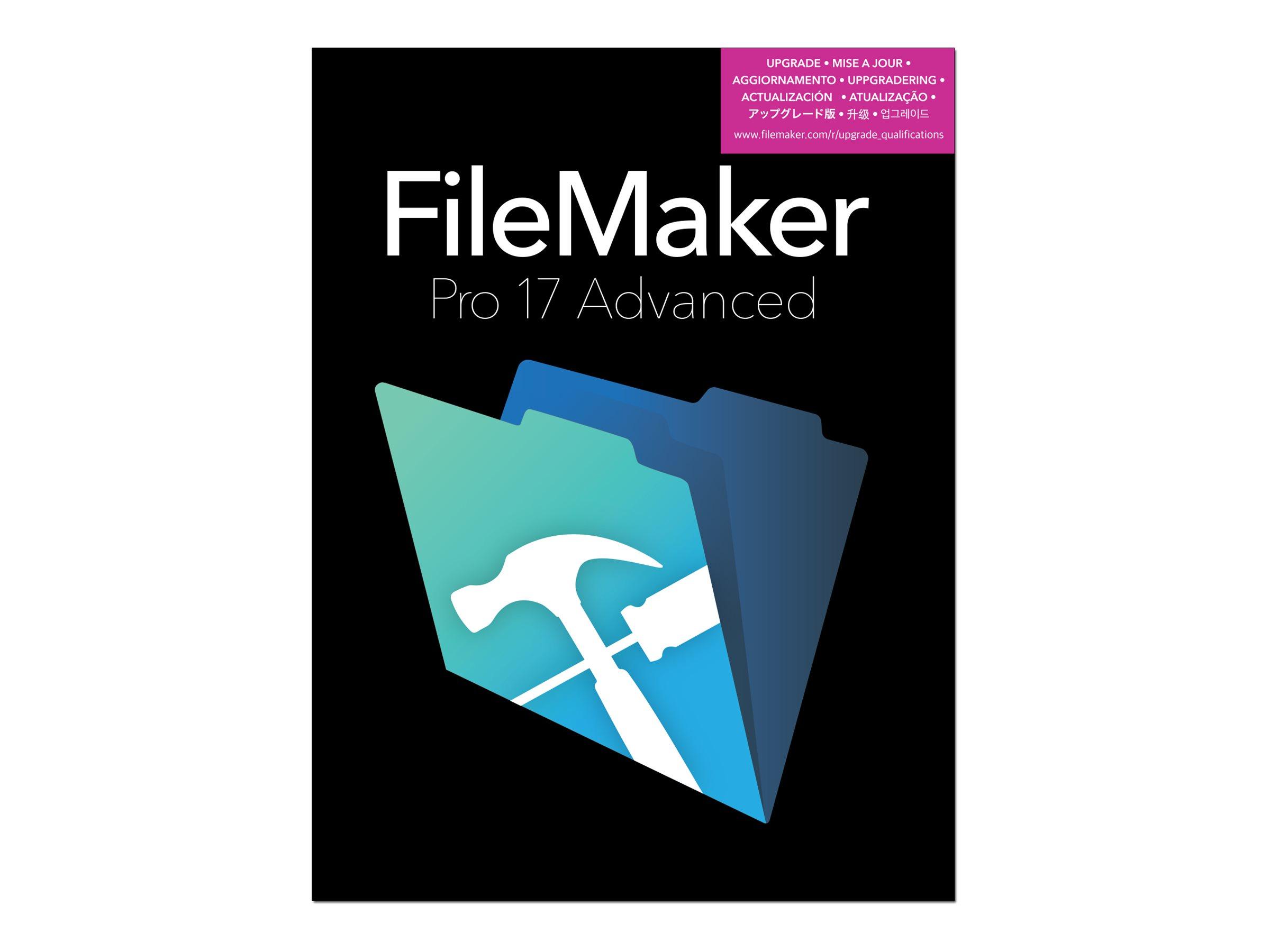 FileMaker Pro Advanced - (v. 17) - Box-Pack (Upgrade) - Upgrade von FileMaker Pro 15,16 / FileMaker Pro Advanced 15,16 - Win, Ma
