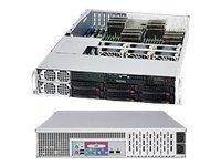 Supermicro SC828 TQ+-R1400LPB - Rack - einbaufähig - 2U - Erweitertes ATX - SATA/SAS