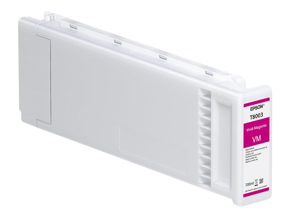 Epson T8003 - 700 ml - Vivid Magenta - Original - Tintenpatrone - für SureColor SC-P10000, SC-P20000