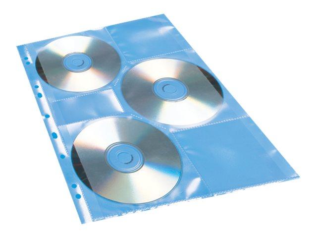 HERMA - CD/DVD-Hülle - Kapazität: 6 CD/DVD - durchsichtig (Packung mit 5)
