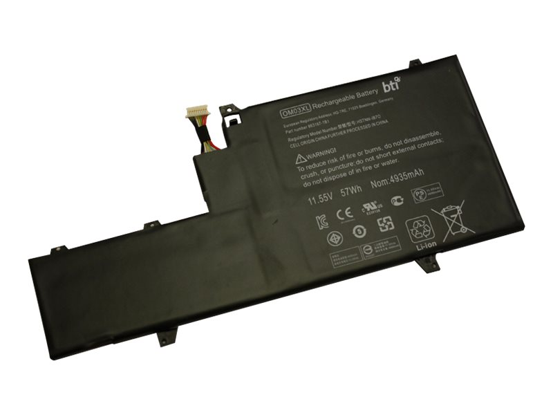 BTI - Laptop-Batterie - 1 x Lithium-Ionen 3 Zellen 4953 mAh - für HP EliteBook x360 1030 G2