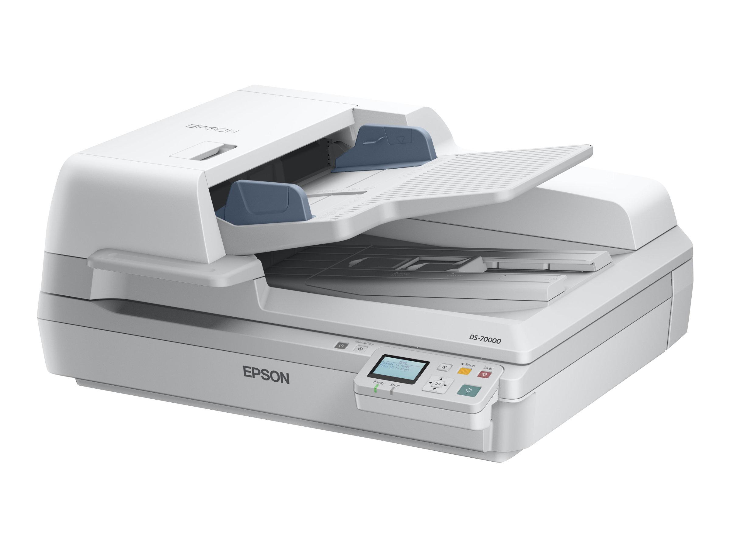 Epson WorkForce DS-70000N - Dokumentenscanner - Duplex - A3 - 600 dpi x 600 dpi - bis zu 70 Seiten/Min. (einfarbig) / bis zu 70