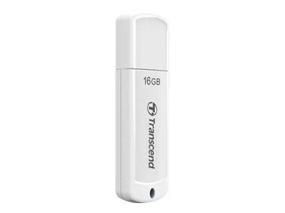 Transcend JetFlash 370 - USB-Flash-Laufwerk - 16 GB - USB 2.0 - weiss