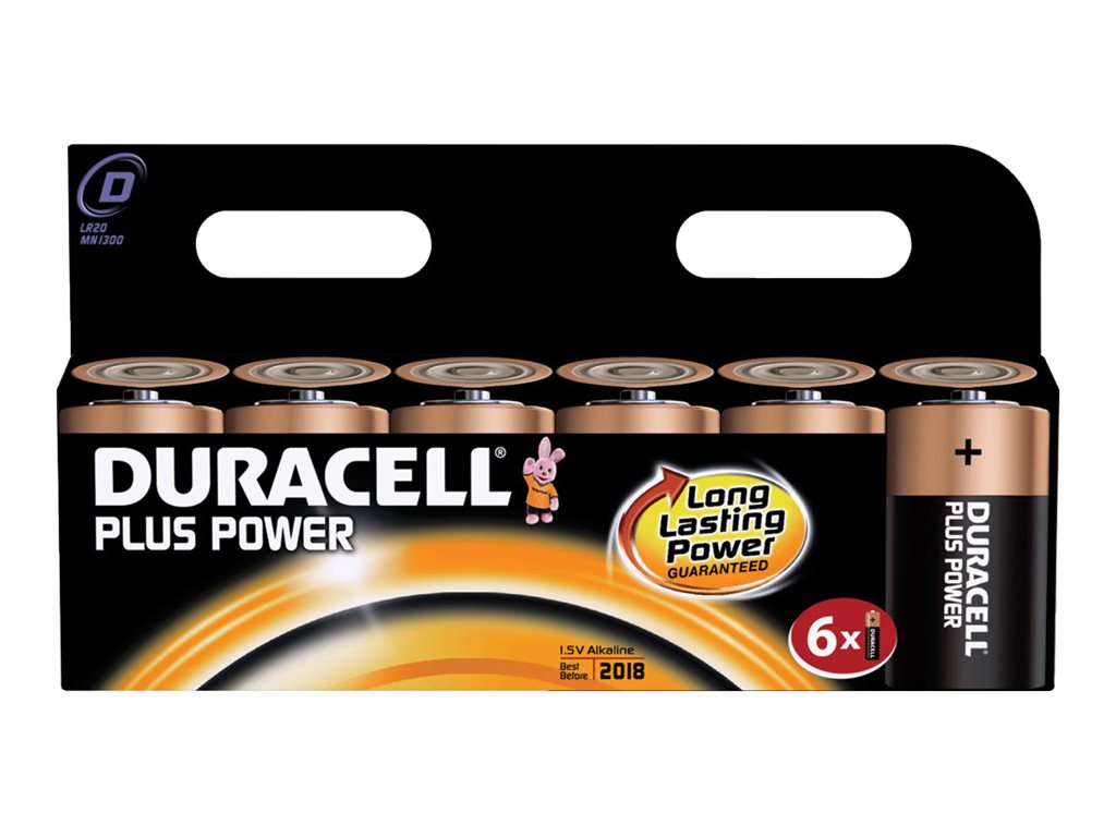 Duracell Plus Power MN1300 - Batterie 6 x D - Alkalisch