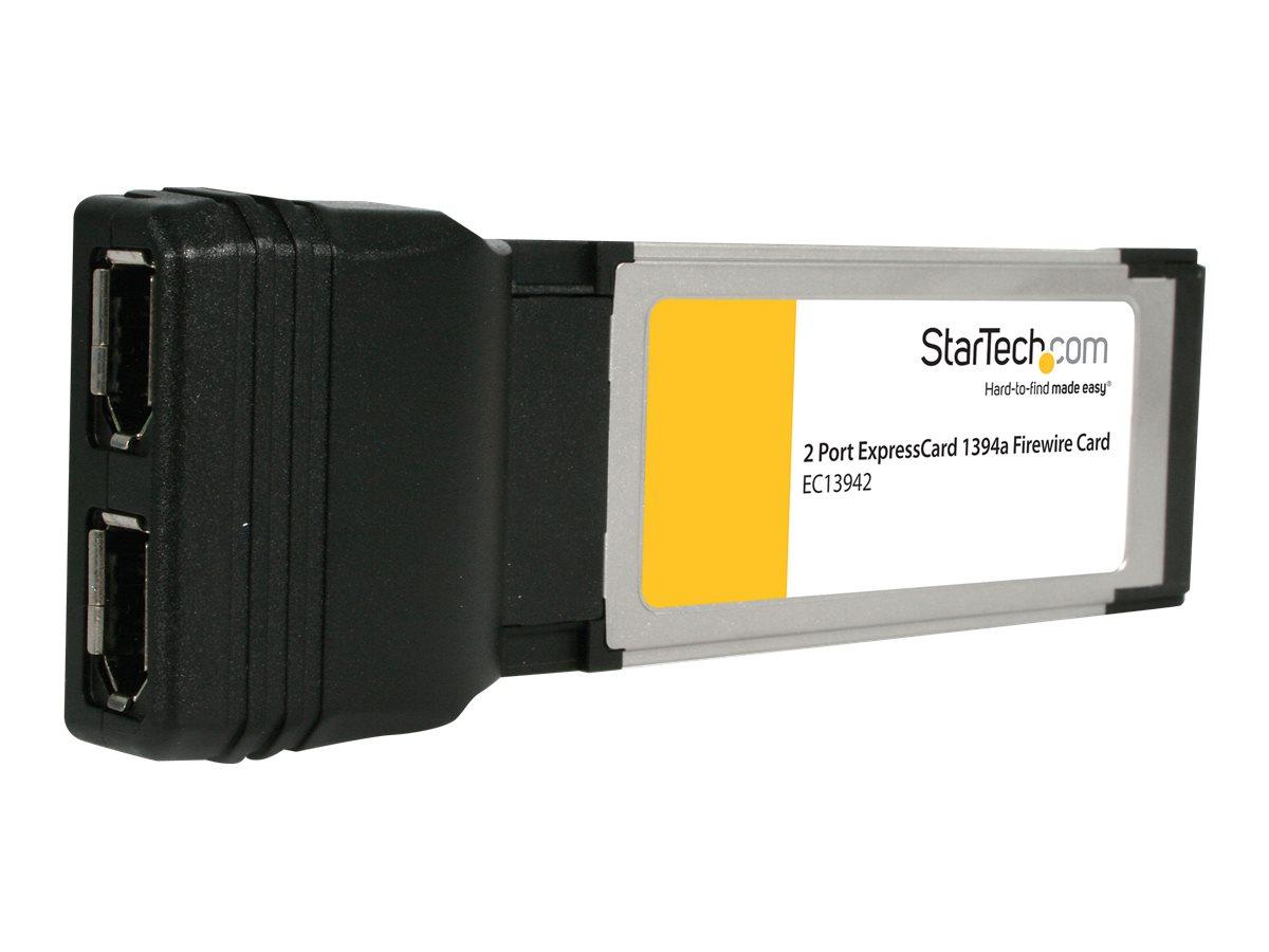 StarTech.com 2 Port FireWire ExpressCard - IEEE 1394Laptop Schnittstellenkarte - Firewire Notebook ExpressCard (34mm) 2 x FireWi