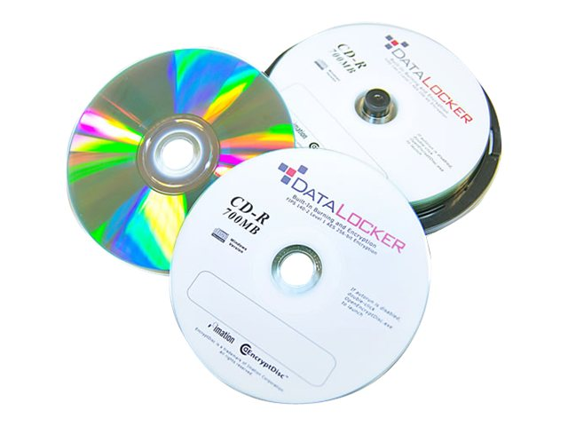 DataLocker SecureDisk - 100 x CD-R - 700 MB 52x