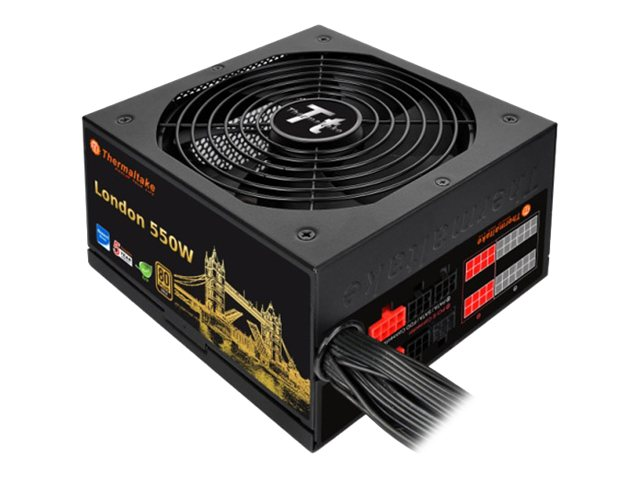 Thermaltake London - Stromversorgung (intern) - ATX12V 2.3/ EPS12V 2.92 - 80 PLUS Gold - Wechselstrom 100-240 V - 550 Watt