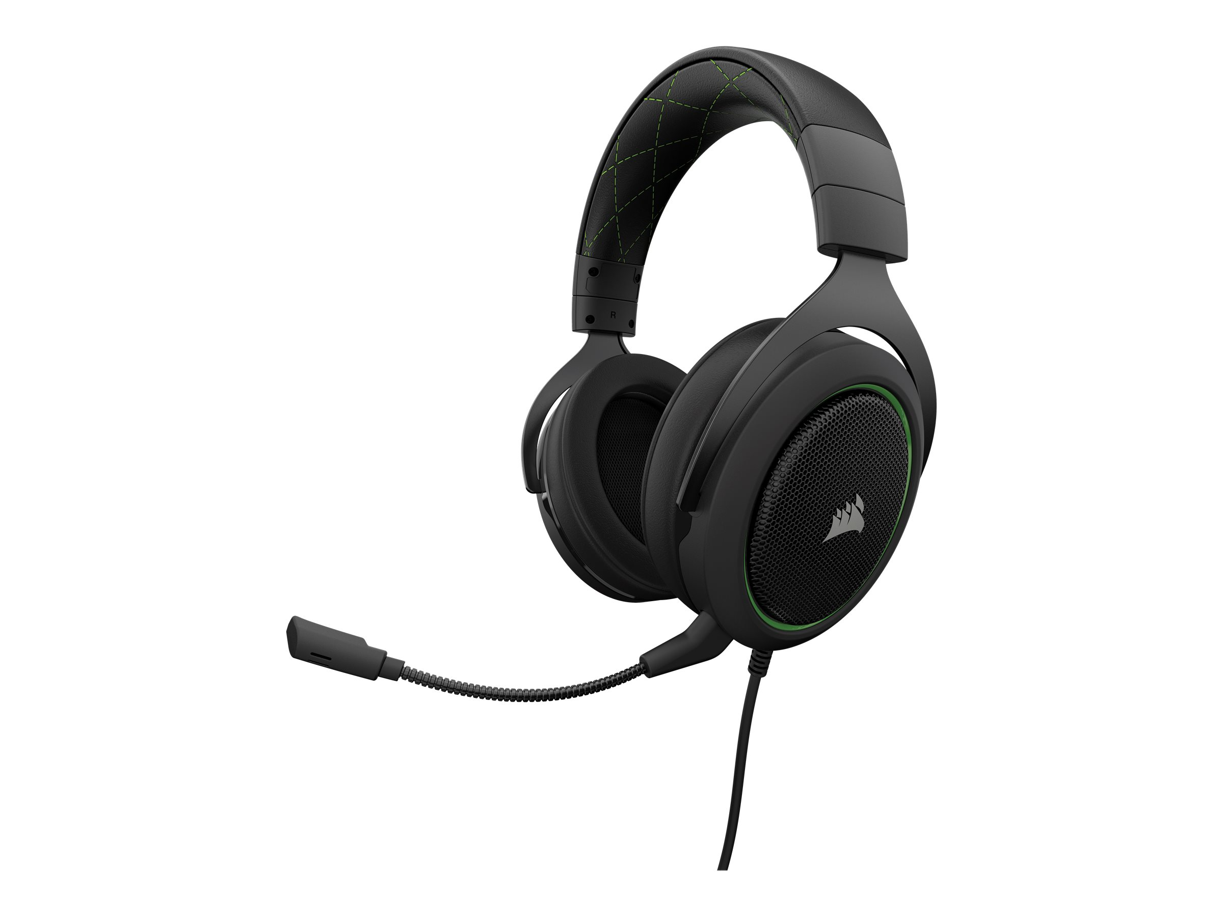 CORSAIR Gaming HS50 STEREO - Headset - Full-Size - kabelgebunden - 3,5 mm Stecker - grün