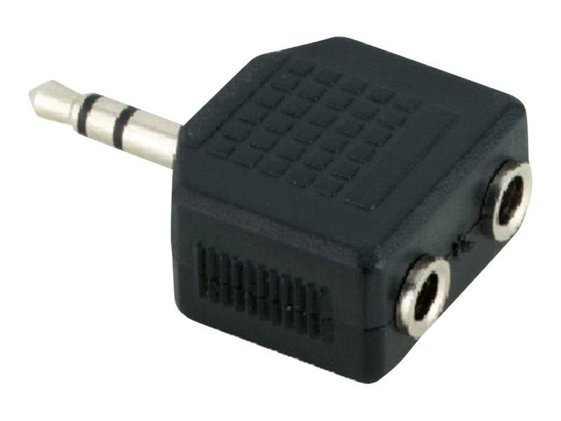 V7 - Audio-Adapter - Stereo Mini-Klinkenstecker (M) bis Stereo Mini-Klinkenstecker (W) - Schwarz