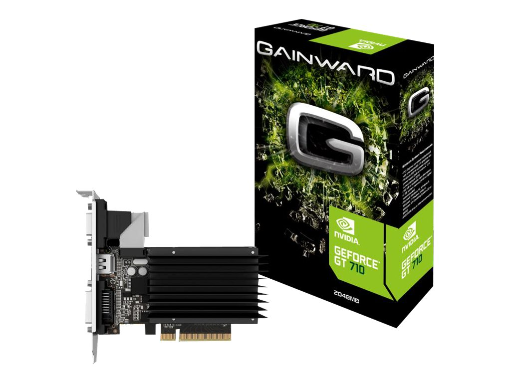 Gainward GeForce GT 710 SilentFX - Grafikkarten - GF GT 710 - 2 GB DDR3 - PCIe 2.0 - DVI, D-Sub, HDMI
