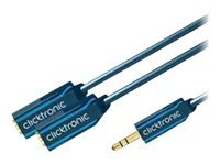ClickTronic Casual Series - Audio-Splitter - Stereo Mini-Klinkenstecker (M) bis Stereo Mini-Klinkenstecker (W) - 10 cm - Doppeli