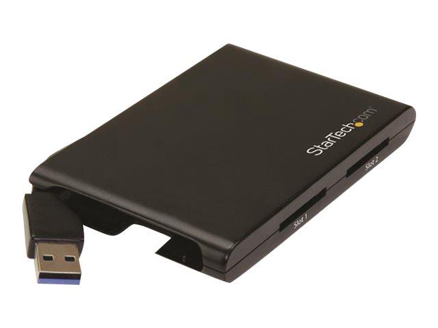 StarTech.com Dual Slot SD Kartenleser - USB 3.0 - SD 4.0, UHS II - SD / SDHC / SDXC Kartenleser/ -schreiber mit UHS-II - Kartenl