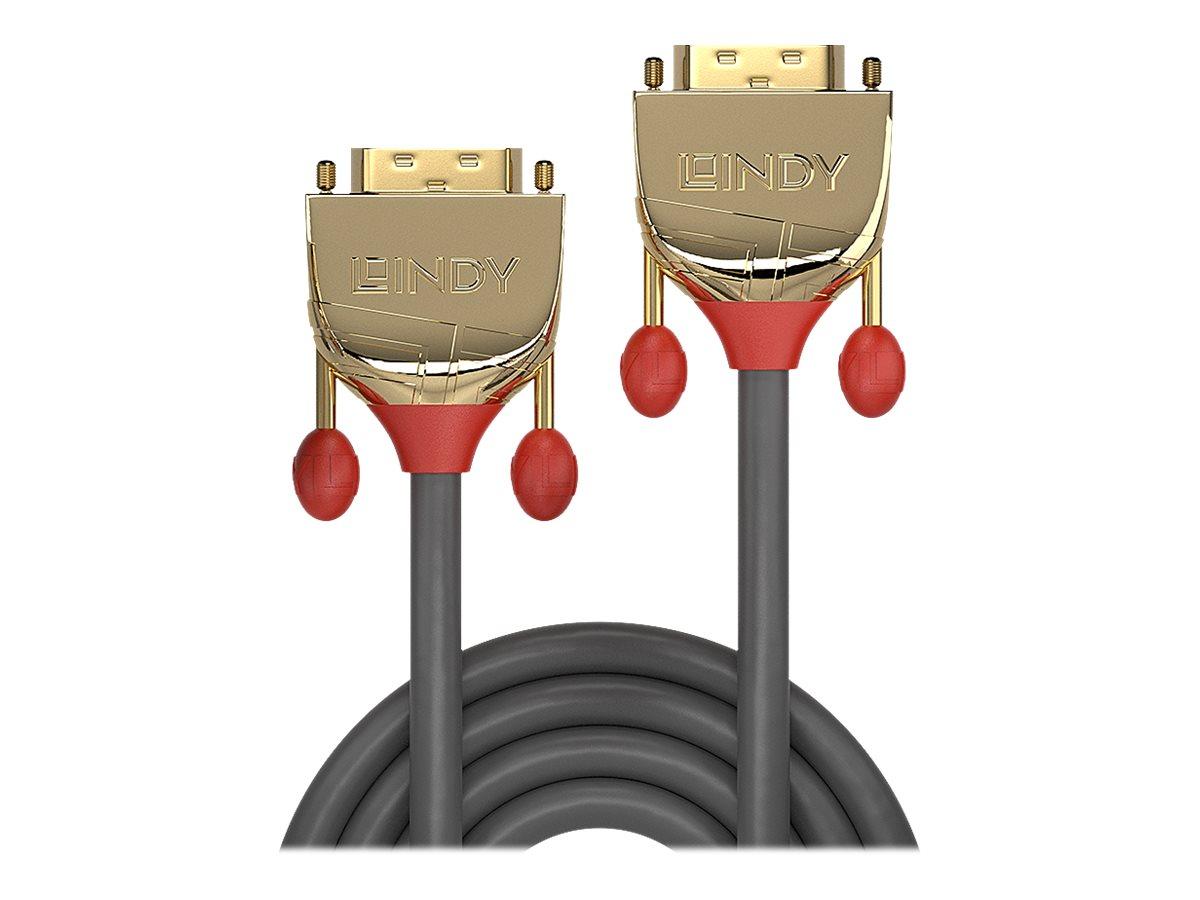 Lindy Gold - DVI-Kabel - Dual Link - DVI-D (M) bis DVI-D (M) - 5 m - Daumenschrauben