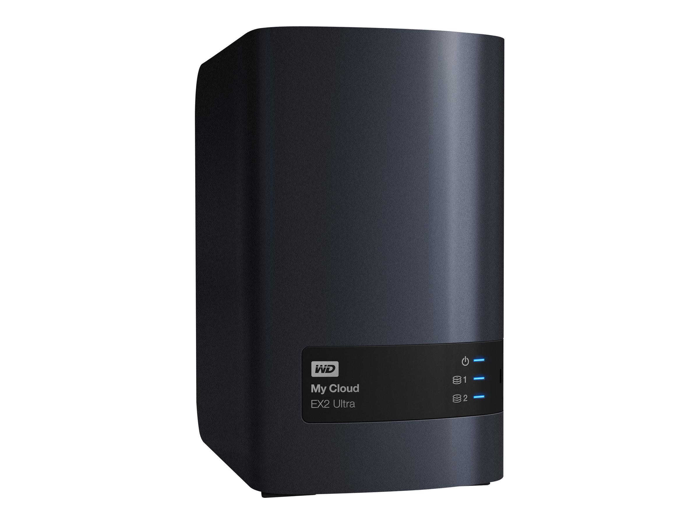 WD My Cloud EX2 Ultra WDBVBZ0240JCH - Gerät für persönlichen Cloudspeicher - 2 Schächte - 24 TB - HDD 12 TB x 2 - RAID 0, 1, JBO