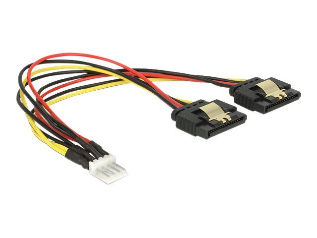 DeLOCK - Netzteil - 4-Pin-Mini-Stromversorgungsstecker (M) bis SATA Leistung (W) - 5 / 12 V - 20 cm