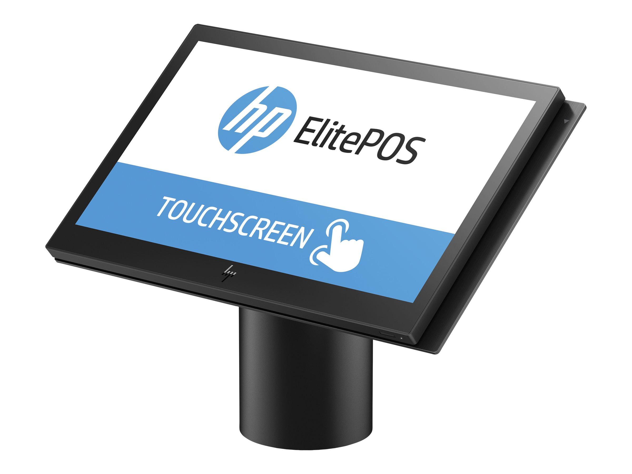 HP ElitePOS G1 Retail System 143 - All-in-One (Komplettlösung) - 1 x Core i3 7100U / 2.4 GHz - RAM 4 GB - SSD 128 GB - 3D V-NAND