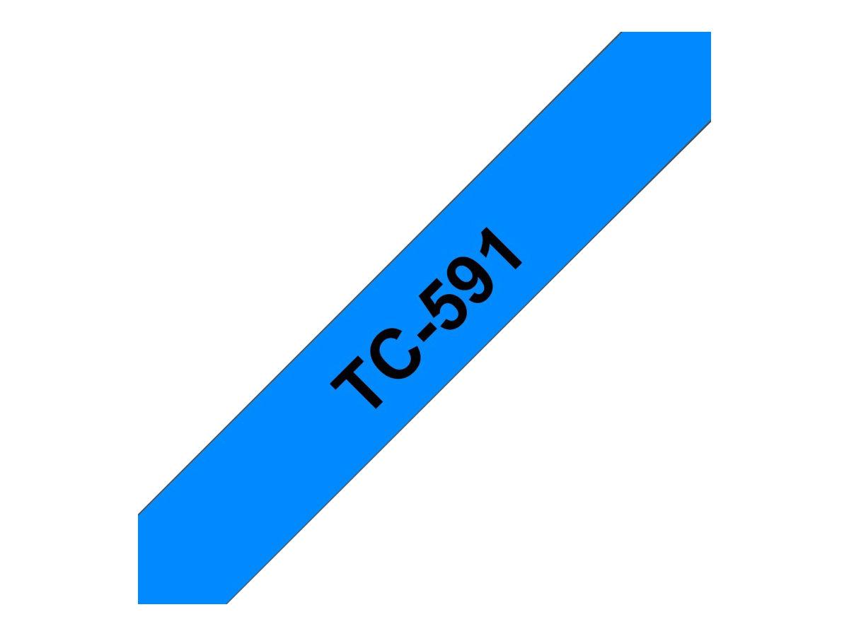 Brother TC591 - 9 mm x Schwarz auf Blau - laminiertes Band - für P-Touch PT-2000, PT-3000, PT-500, PT-5000, PT-8E
