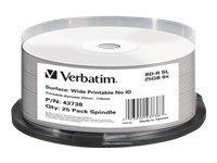 Verbatim - 25 x BD-R - 25 GB 6x - breite bedruckbare Oberfläche - Spindel