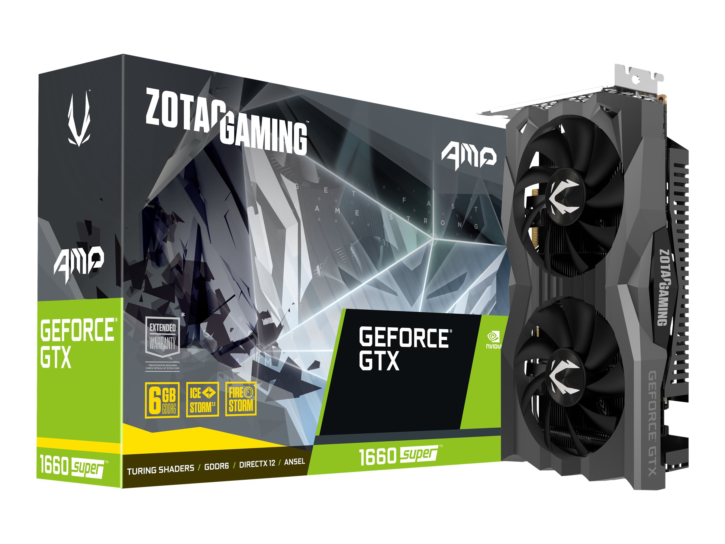 ZOTAC GAMING GeForce GTX 1660 SUPER AMP - Grafikkarten - GF GTX 1660 SUPER - 6 GB GDDR5 - PCIe 3.0 x16 - HDMI, 3 x DisplayPort