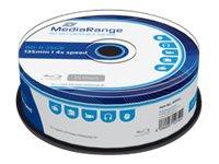 MediaRange - 25 x BD-R - 25 GB 4x - Spindel