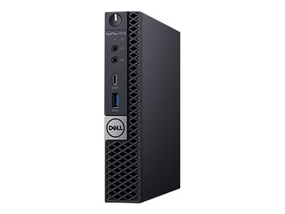 Dell OptiPlex 7070 - Micro - 1 x Core i5 9500T / 2.2 GHz - RAM 8 GB - SSD 256 GB - UHD Graphics 630