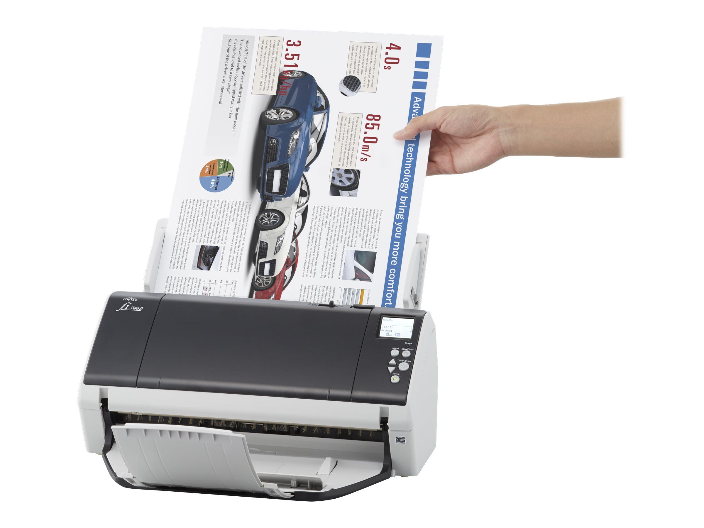 Fujitsu fi-7480 - Dokumentenscanner - Duplex - 304.8 x 431.8 mm - 600 dpi x 600 dpi - bis zu 80 Seiten/Min. (einfarbig) / bis zu