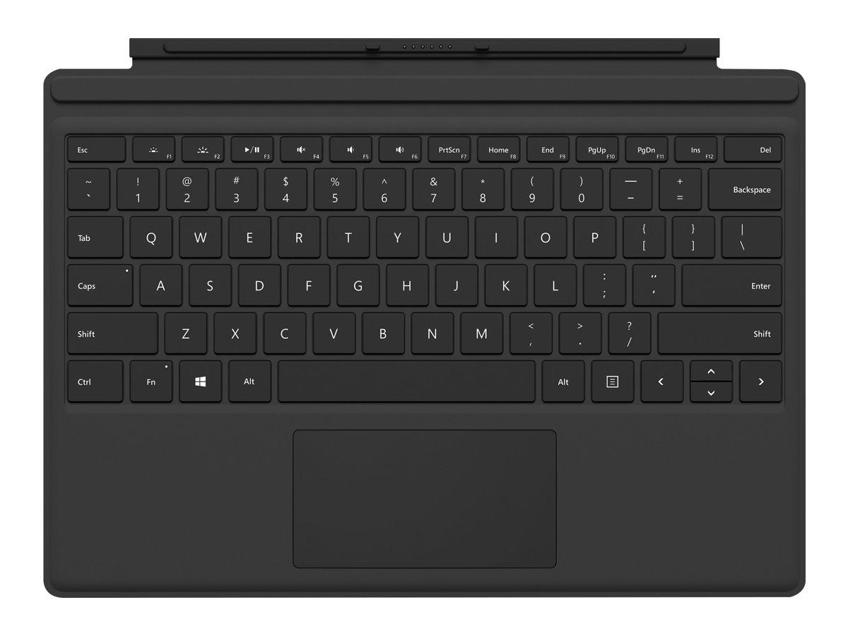Microsoft Surface Pro Type Cover (M1725) - Tastatur - mit Trackpad, Beschleunigungsmesser - Spanisch - Schwarz - kommerziell